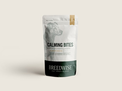 Breedwise Stand Up Pouch Design wordmark typography pet wellness pet subscription heritage logotype logo design illustration packaging design identity design dogs direct to consumer consumer d2c brand studio branding brand identity brand best friends
