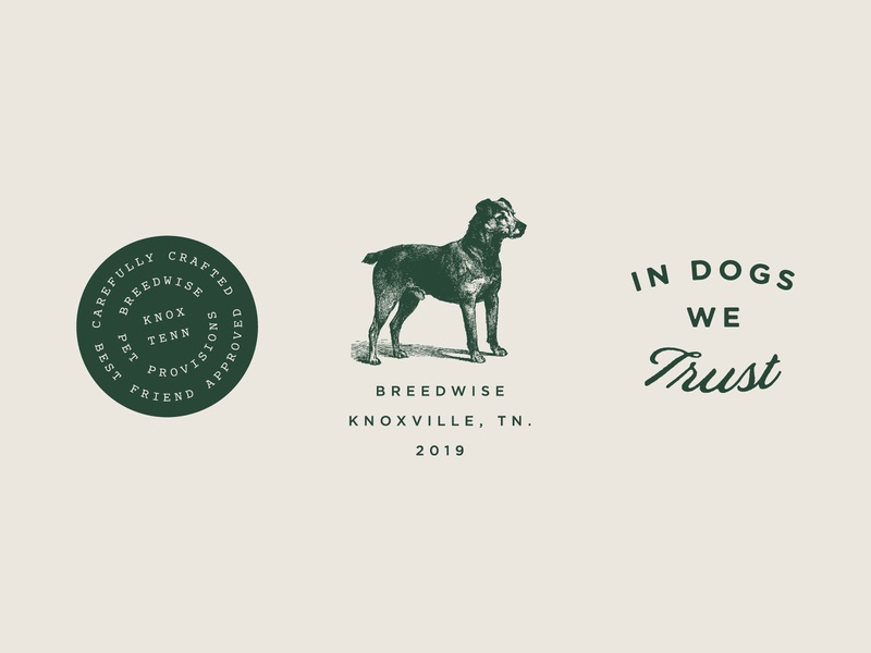 Breedwise Badges brand identity identity design dogs brand consumer d2c typography illustration design branding