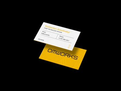 OMWorks Business Cards brand identity identity design typography design branding business card business cards