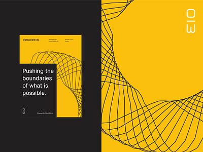 OMWorks Proposal proposal editorial design brand brand identity identity design typography design branding