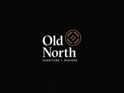 Old North Furnituree + Design sectra compass mountains woodworking whiskey old logo