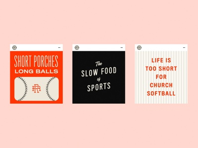 Short Porches, Long Balls sandlot playful baseball branding identity design