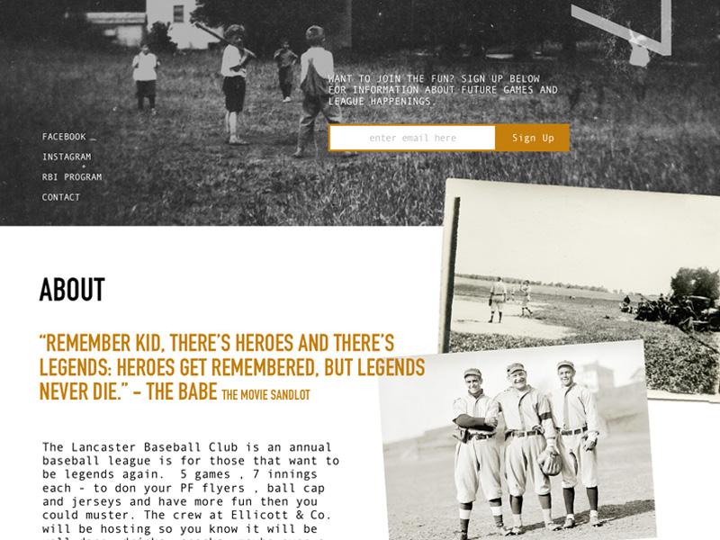 Lancaster Baseball Club landing page sign up america pa lancaster club baseball vintage
