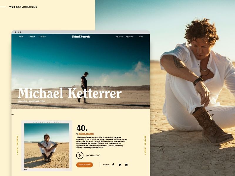Michael Ketterrer Artist Page Mock - United Pursuit ketterrermusic michaelketterrer pitch work comp will reagan united pursuit andrea marie michael ketterer website