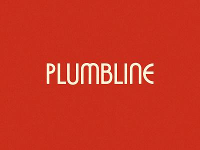 Plumbline Wordmark WIP retro wordmark plumbline