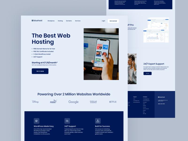 Web Hosting Landing Page