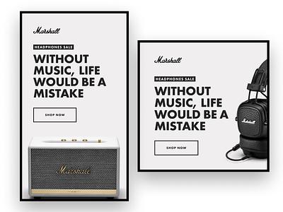 Marhsall post design web design brouchure banner banners instagram banner banner design website minimal design