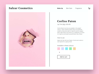 Daily UI #012 | E-Commerce Shop (Single Item)