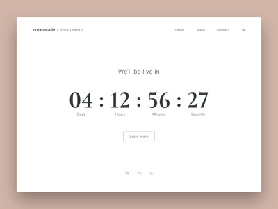 Daily UI #014 | Countdown Timer