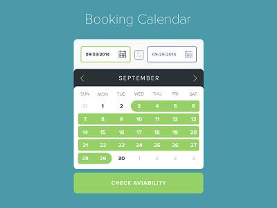 Booking Calendar calendar mobile booking ui