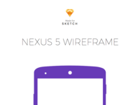 Nexus 5 Wireframe for Sketch