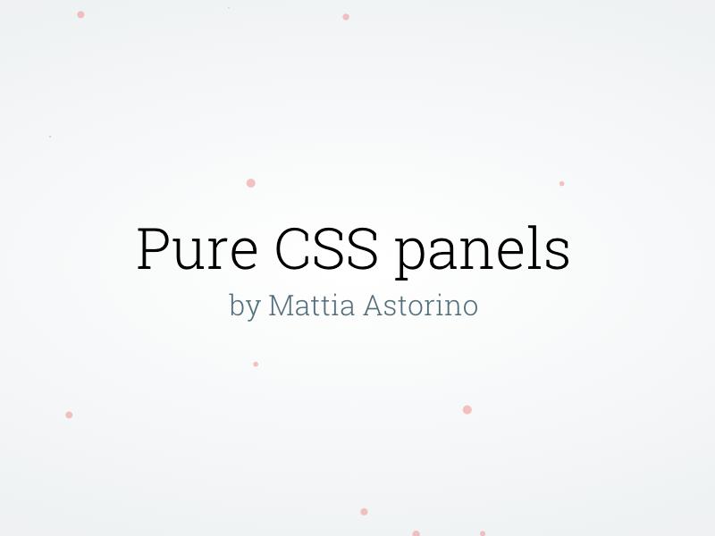 Pure Css Panels css panel pure particle web design developer simple