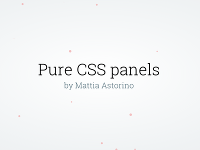 Pure Css Panels