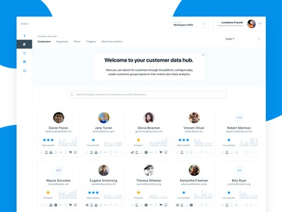 MC Customers Database Concept clean users app dashboard concept colors design system uxd