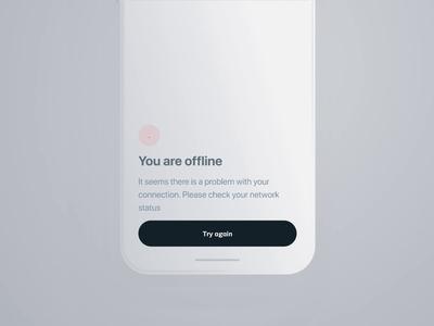 Connection Status - 01 offline status connection concept ui principle clean mobile app animation design