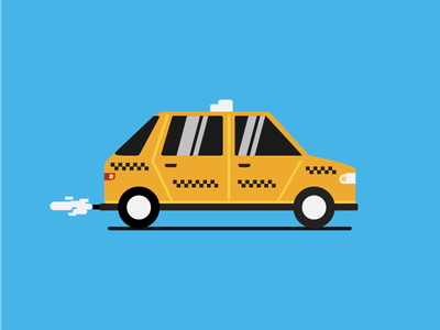 Taxi Cab tourist drive 2d flat vector car cab taxi