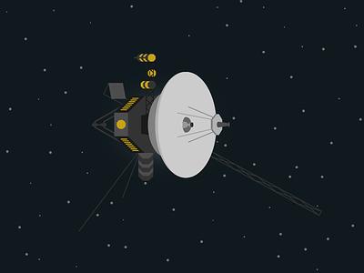 Voyager sattelite stars illustration space exploration voyager space