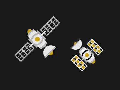 Satellites design vector illustration spacex nasa communication solar panel solar space exploration satellites space
