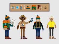 Hiking Characters