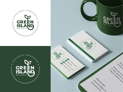 Logo Design - Green Island concept illustration mark redesign concept logo concept flat design graphic design modern logo branding typogaphy greenisland identity vector microgreen green minimal logo design brand identity brand design