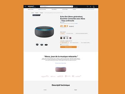 Page produit Amazon @design