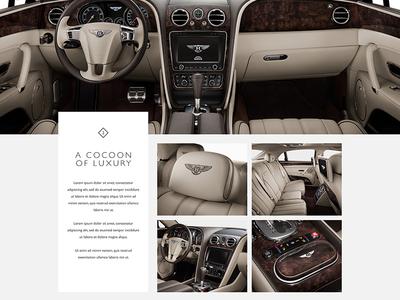 Bentley The New Flying Spur bentley web site case study