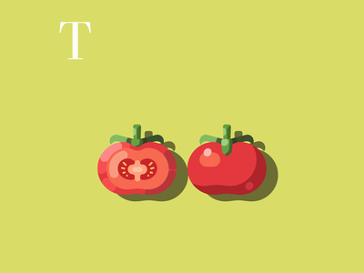 T is for Tomatoes vectorillustration drawingchallenge tomatoes design flatdesign flat vectorart alphabet