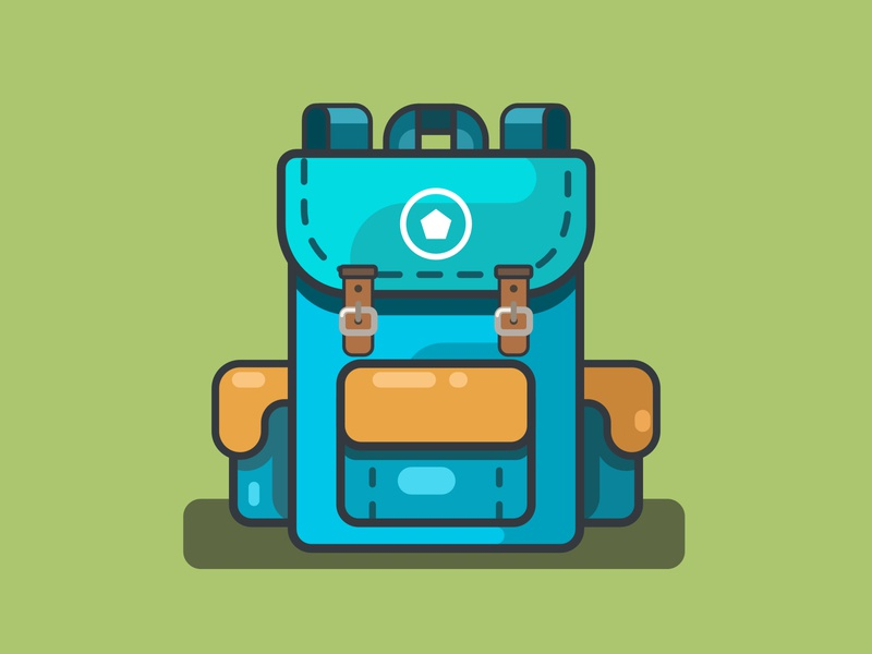 Backpack vector illustration vector illustration vectorart flatdesign bag design flat school bag backpack
