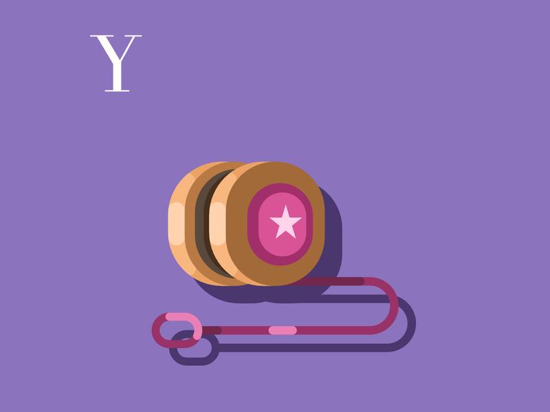 Y is for Yoyo flatdesign design flat drawing challenge vector illustration vector art yoyo alphabet