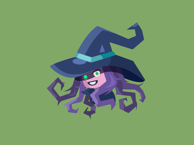 Witch Element graphicdesign holiday halloween design flatdesign icon design icon webdesign flat spooky element witch