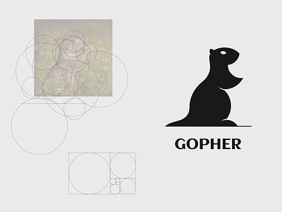 Gopher logo graphic design design vector branding flat logo