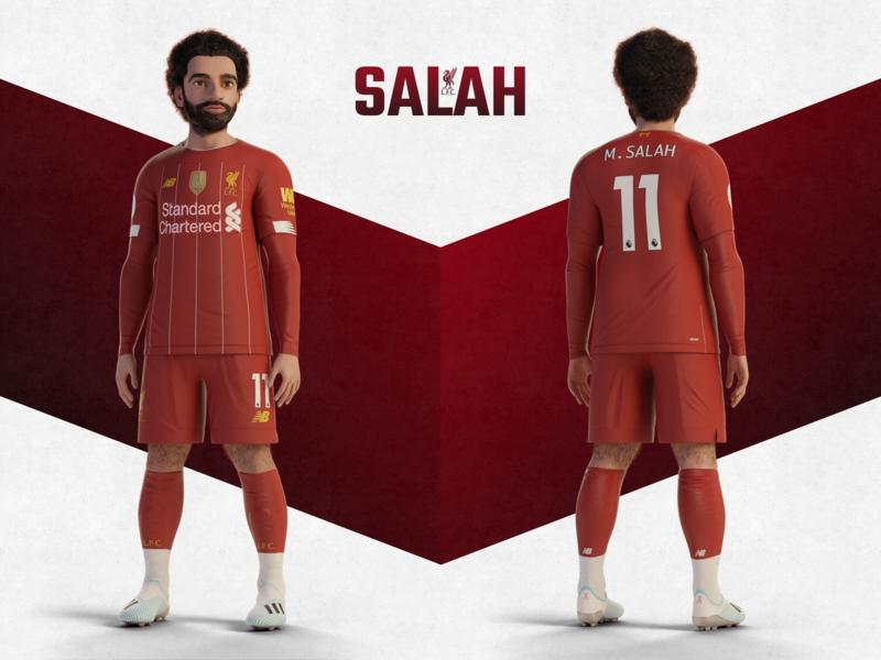 Salah Character anfield render character design premierleague red soccer football champion lfc ynwa liverpool