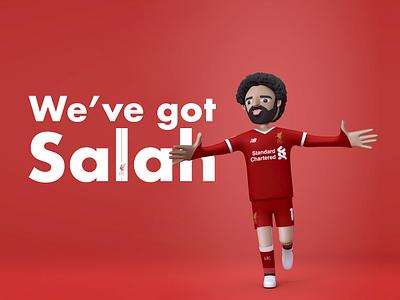 We've got Salah. character red football championship uefa fan art c4d mo salah liverpool fc