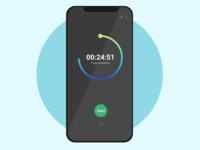 Timer screendesign mobile app mobile timers countdown timer countdown dailyui website webpage ui xd adobexd uxui prototype design adobe