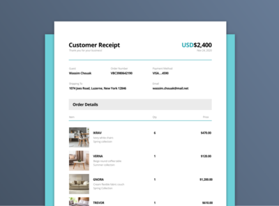 Email Receipt purchase email receipt email receipt ux dailyui ui xd adobexd uxui prototype design adobe