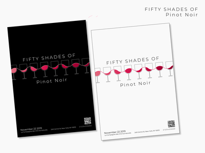 Fifty Shades of Pinot Noir illustration poster design graphic design
