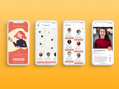 NGHBR - Mobile App design android app ios app mobile app mobile branding design ui design ui