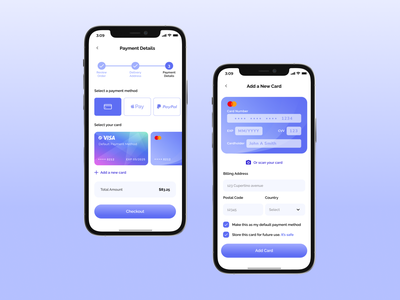Daily UI #002 - Credit Card Checkout creditcard creditcardcheckout appuidesign app design dailyui002 appui checkout payment clean design uiux daily ui 002 dailyui mobile app daily daily ui ios app design ui design ui