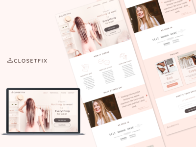 Landing page for stasrtup, ClosetFix