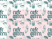 Cafe Queen Repeat Pattern