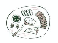 Terrace Kitchen Menu Illustration