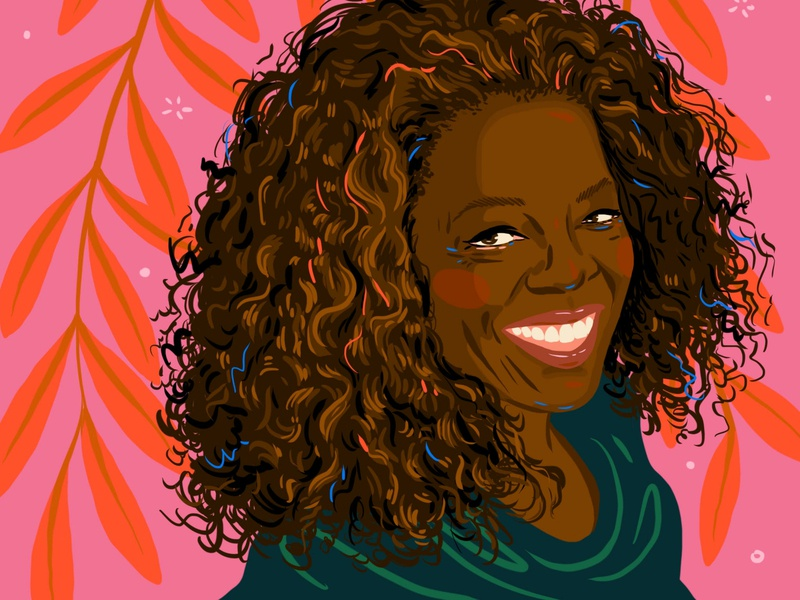 Oprah Winfrey artist celebrity oprah digital art procreate portrait illustration
