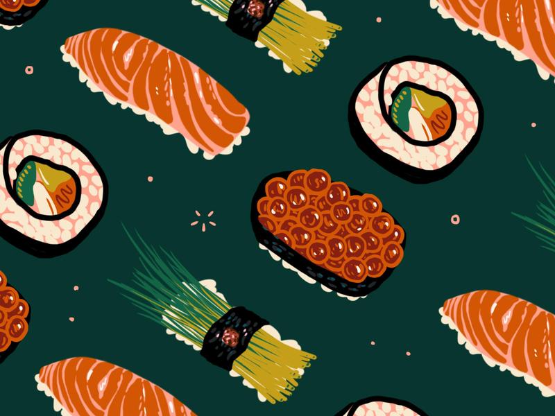 Sushi traveller travel cuisine japanese japan eat restaurant menu illustration foodie menu illustration food illustration food sushi