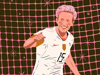 Megan Rapinoe woman procreate portrait illustration