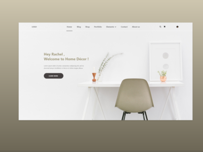Home decor landing Page