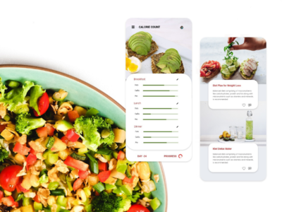 Calorie count application + daily health tips