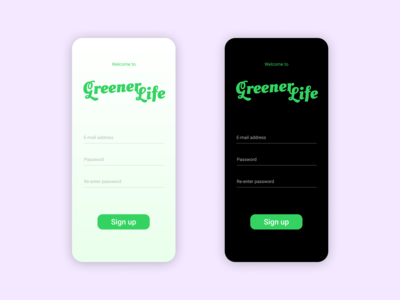 A sign up page - Daily UI Design Challenge 001