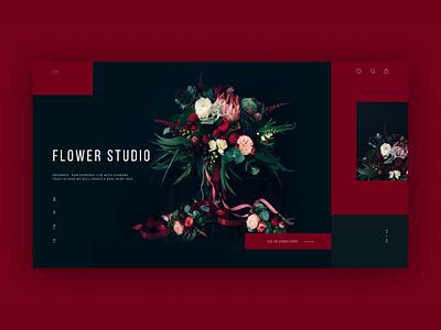 online store Flower Studio color website design webdesign website flower shop store ui  ux design ux ui uiux