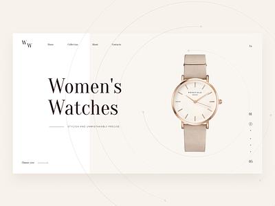 Women's watches | Promo UX/UI Case website webdesign ux color mobile shop ui design promotional promo woman uxui watch