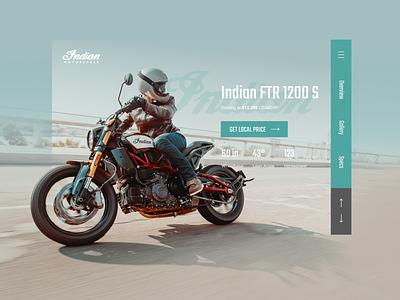 Indian motorcycle website concept design motorcycle indian website ux ui uiux webdesign